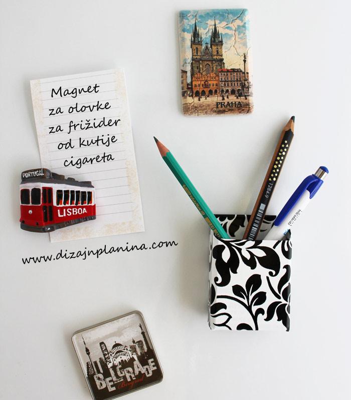 magnet za olovke za frizider od kutije cigareta